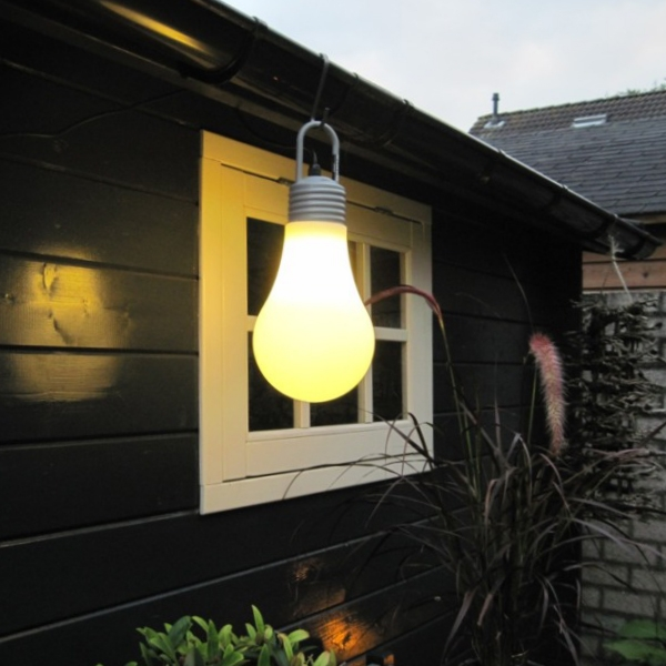 Retro hang- en vloerlamp wit IP65 - Lampadina
