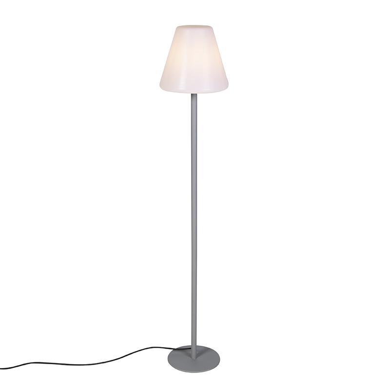 Moderne buiten vloerlamp grijs IP65 - Virginia