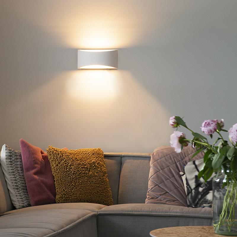 Moderne wandlamp gips 30 cm - Gipsy Creil