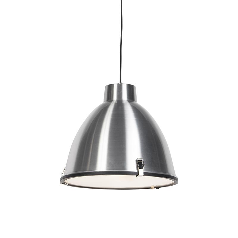 Industriele Hanglamp aluminium met blender - Anteros 38