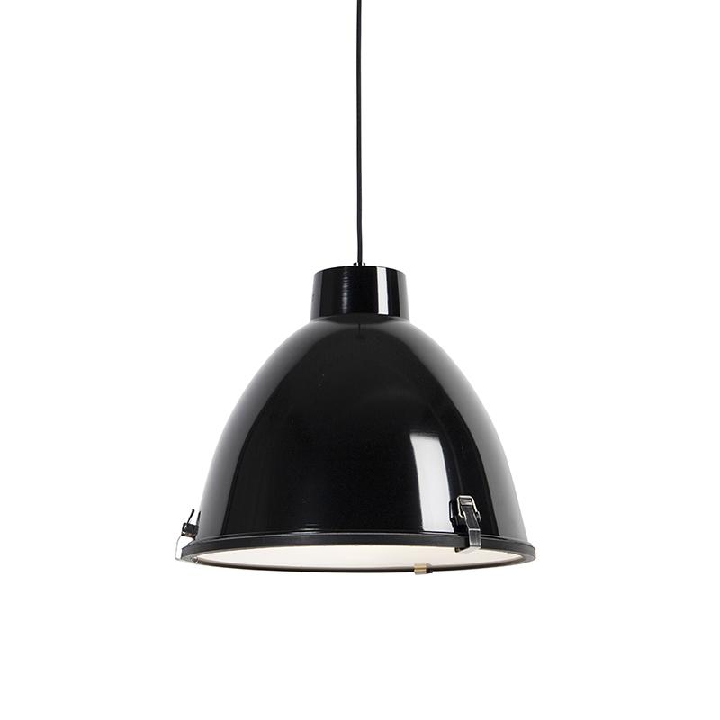 Industri�le hanglamp zwart 38 cm dimbaar - Anteros