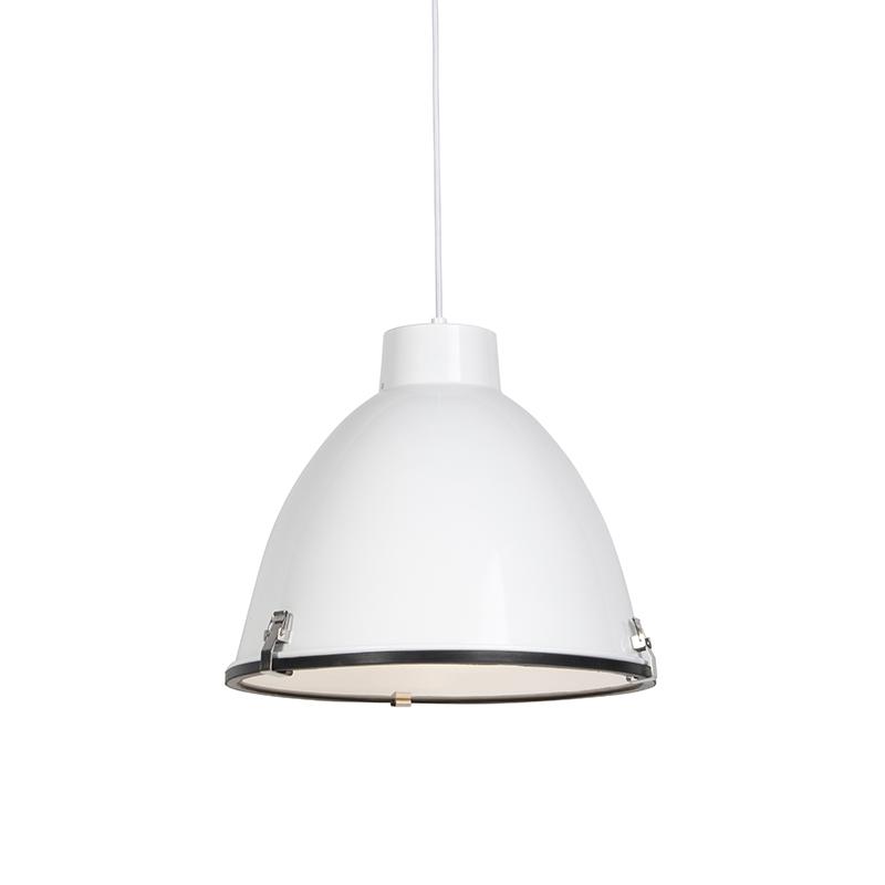 Industrialna lampa wisząca biała 38cm - Anteros