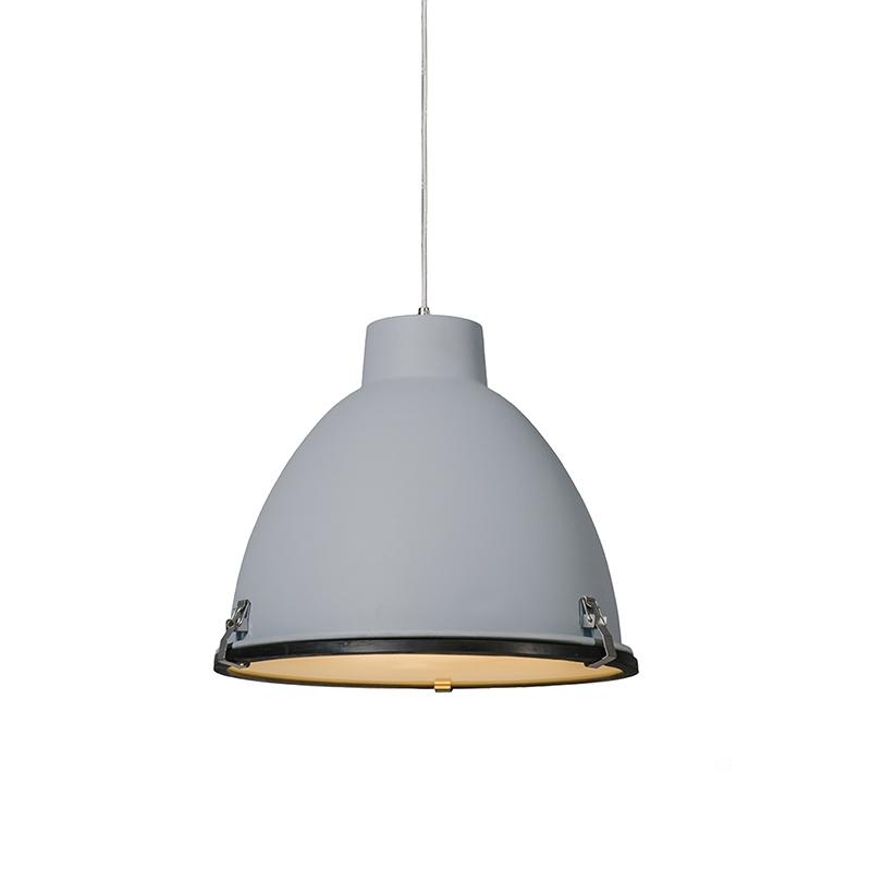 Industri�le hanglamp grijs 38 cm dimbaar - Anteros