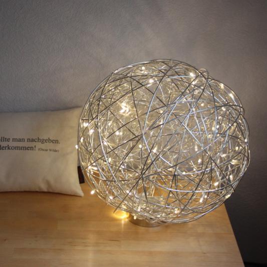 Vloerlamp Draht bol 40cm LED aluminium