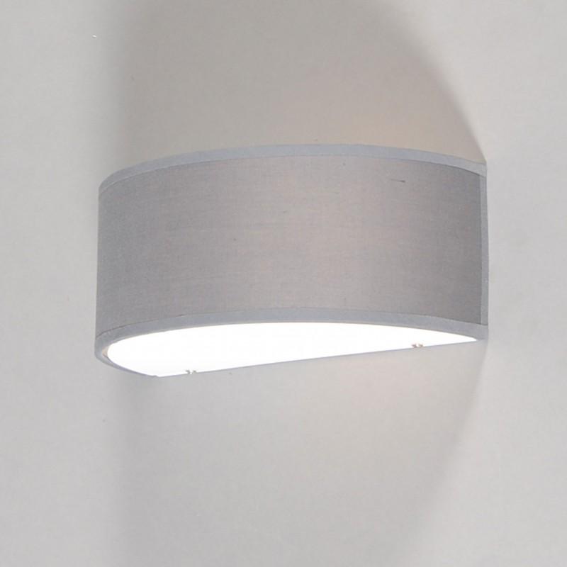 Wandlamp Drum half rond grijs