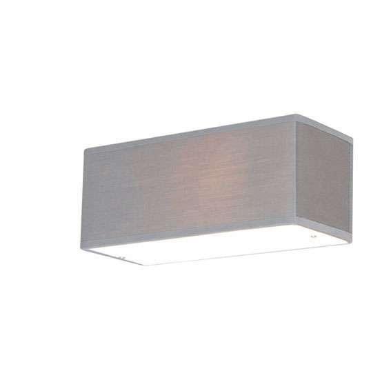 Wandlamp Drum rechthoek grijs