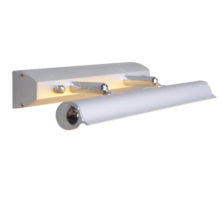Schilderijlamp Pittura 8W zilvergrijs