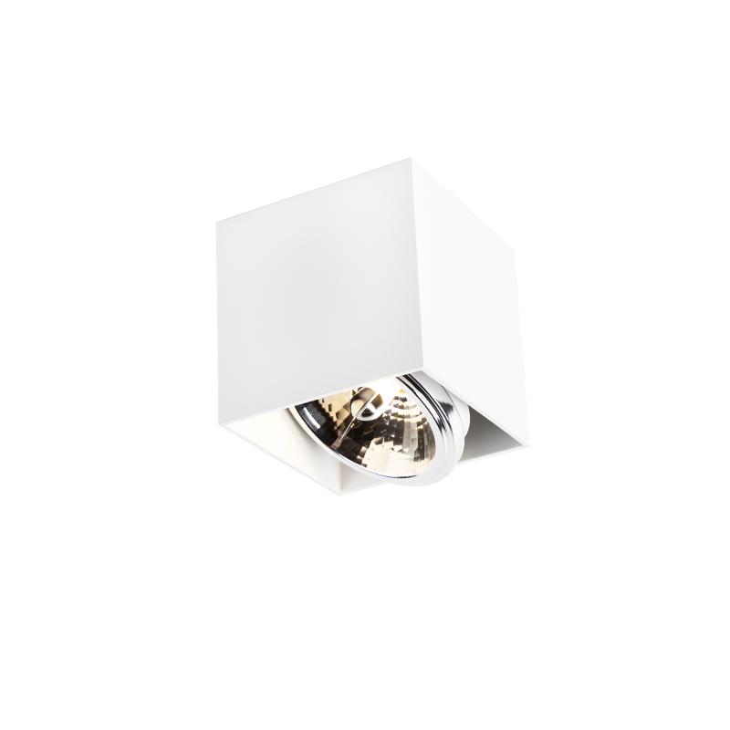 Design spot vierkant 1-lichts wit - Box