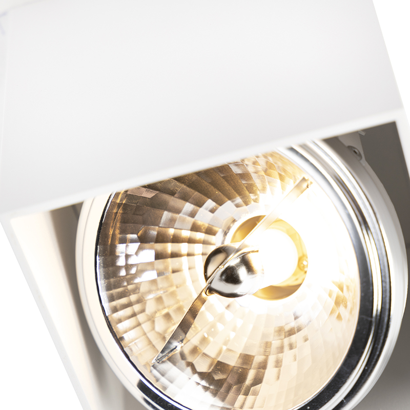 Design spot vierkant 1-lichts wit – Box
