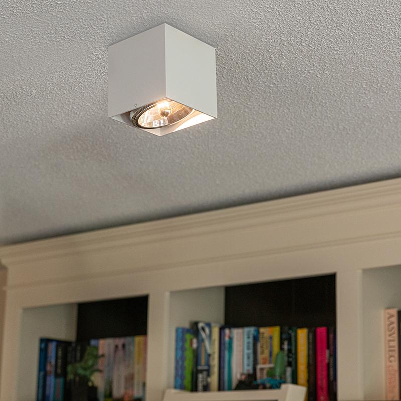 Design spot vierkant 1-lichts wit incl. G9 - Box