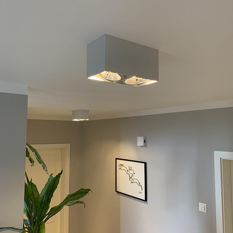 Design spot rechthoekig 2-lichts wit - Box