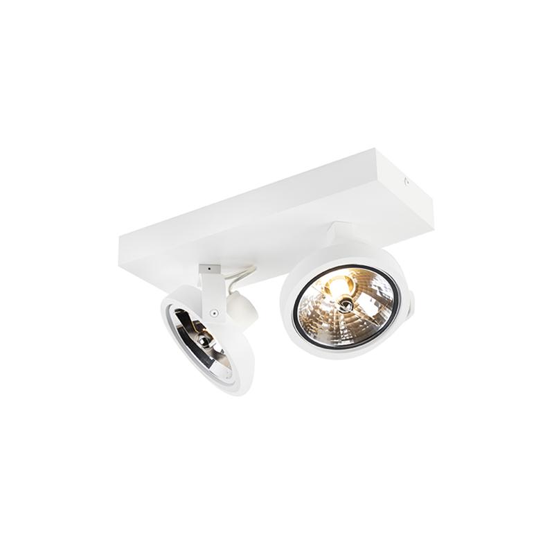 Designerski spot regulowany biały zawiera LED 2-źródła światła - Go
