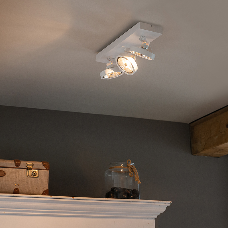 Design spot wit verstelbaar 3-lichts incl. 3 x G9 - Go