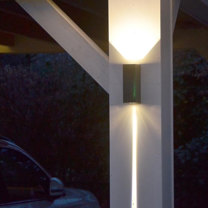 Wandlamp Duell donkergrijs