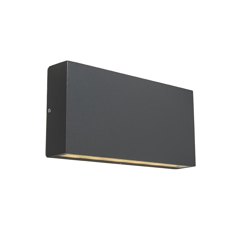 Aplique de pared Exterior gris oscuro LED - OTAN
