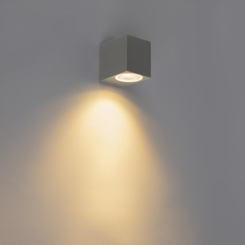 Moderne Wandlamp Antraciet Ip44 - Baleno I
