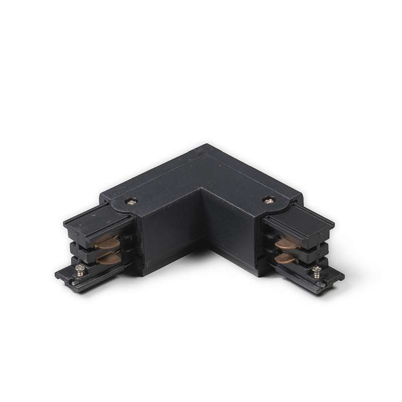 L-Koppelstuk voor 3-fase rail links zwart