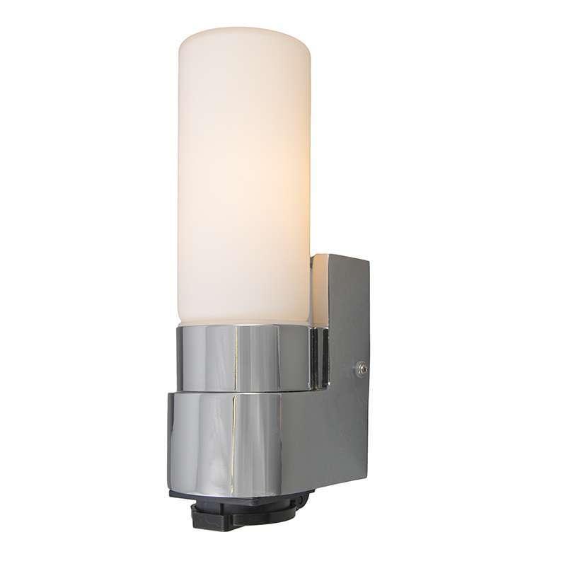 Badkamer wandlamp Midas I chrome met stopcontact