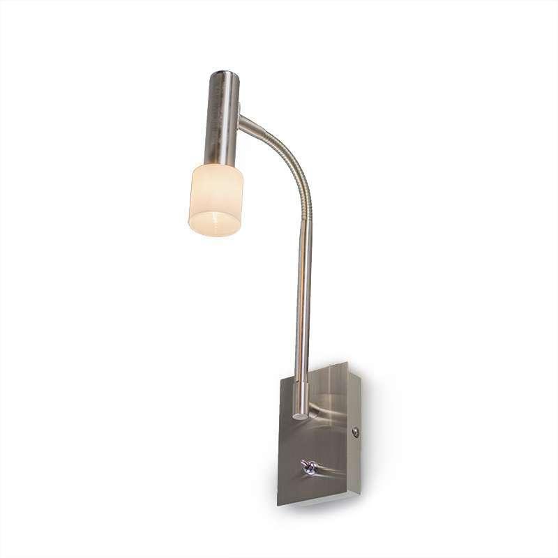 Wandlamp Capri Flex staal