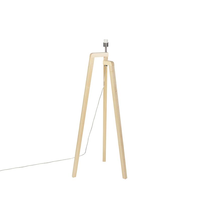 Lampa podłogowa drewno bez klosza - Puros