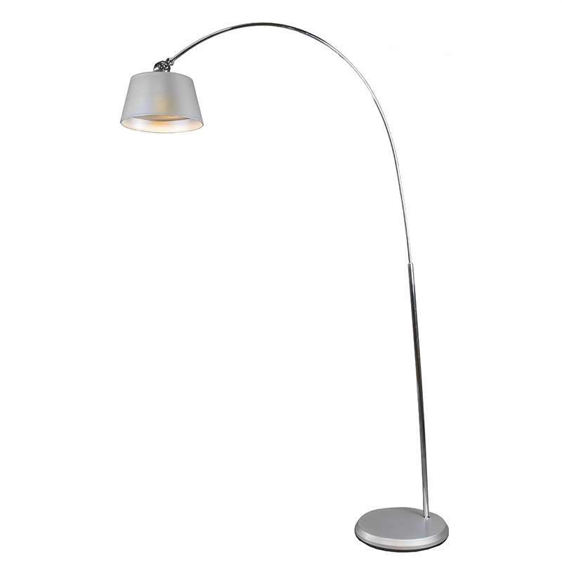 LED Booglamp zilvergrijs