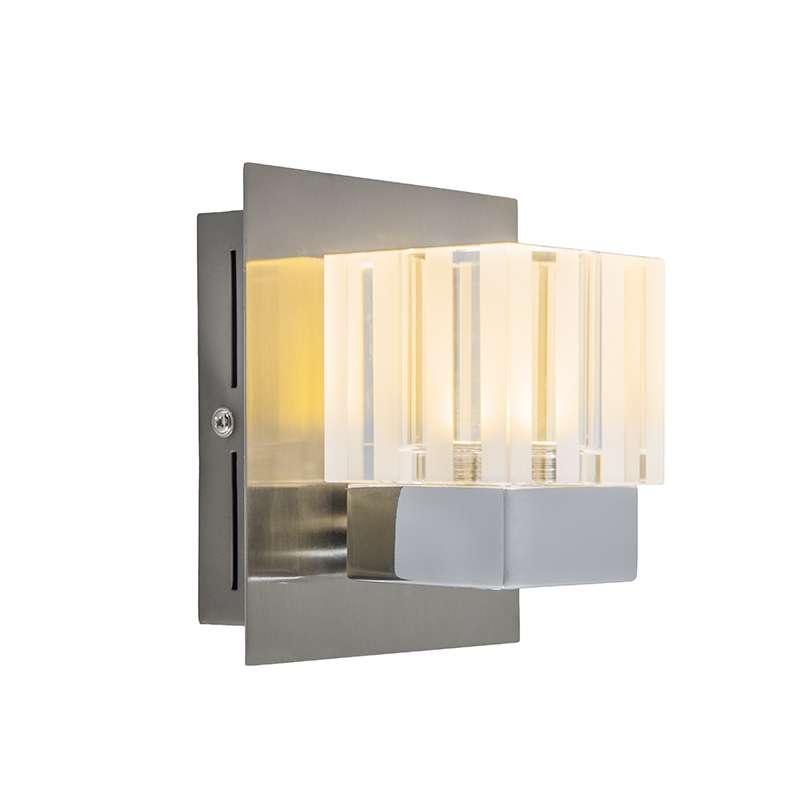 Wandlamp Dice 1 LED chroom