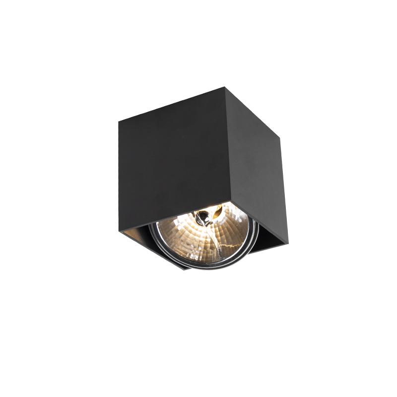 Design spot vierkant 1-lichts zwart - Box