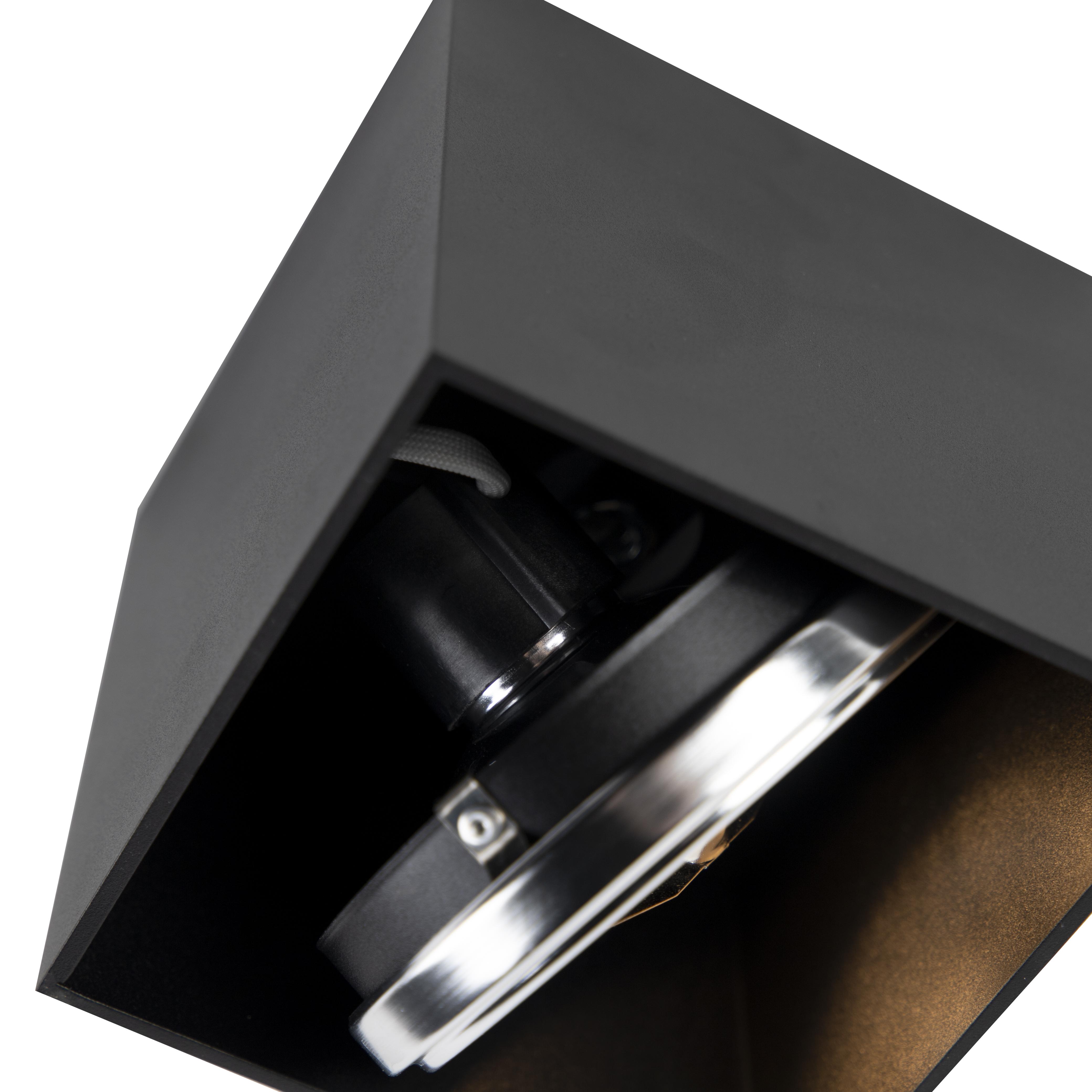 Design spot vierkant 1-lichts zwart – Box