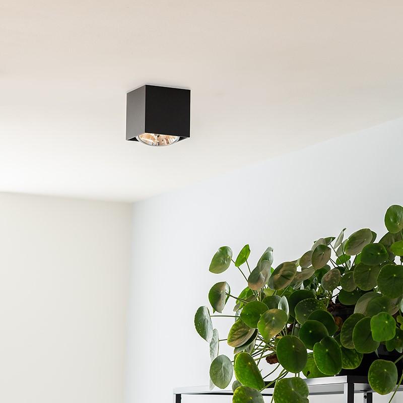 Design spot vierkant 1-lichts zwart incl. 1 x G9 - Box