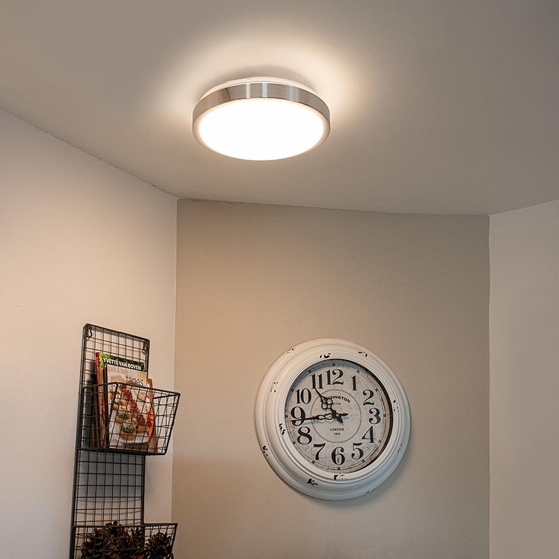 Moderne plafonnière aluminium 31 cm incl. LED 12W - Avant