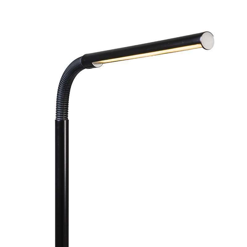 Vloerlamp Flute LED zwart