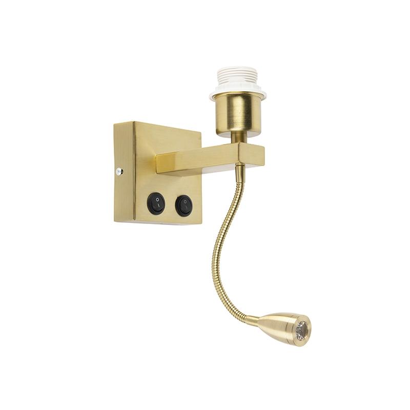 Moderne wandlamp goud met flexarm - Brescia Combi