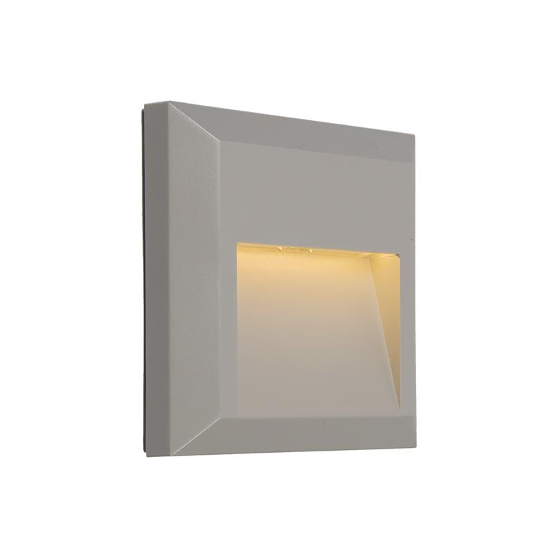 Moderne wandlamp lichtgrijs incl. LED - Gem 2