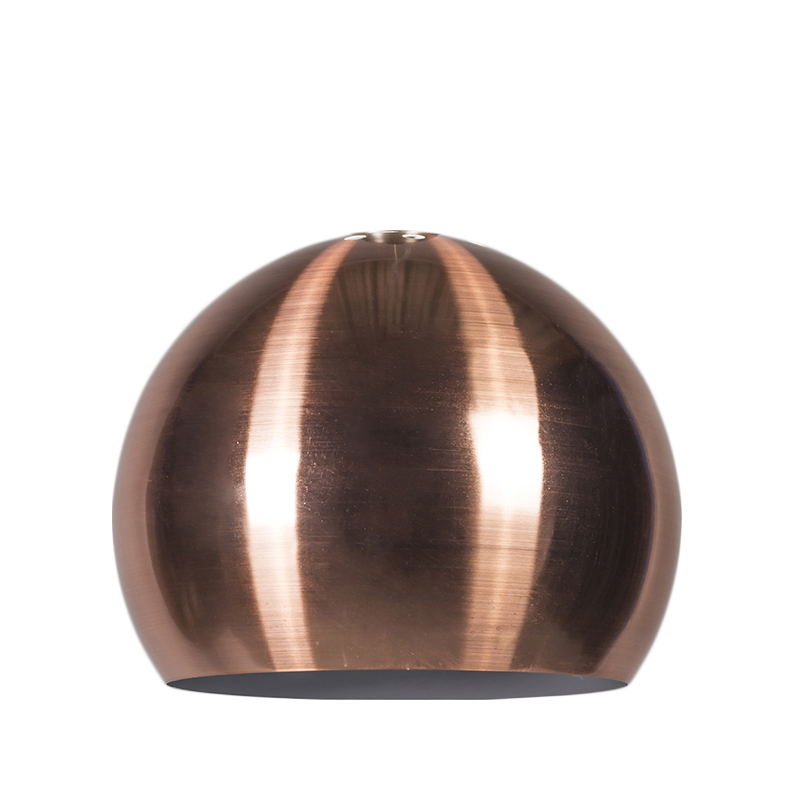 Kap Globe 28cm mat koper