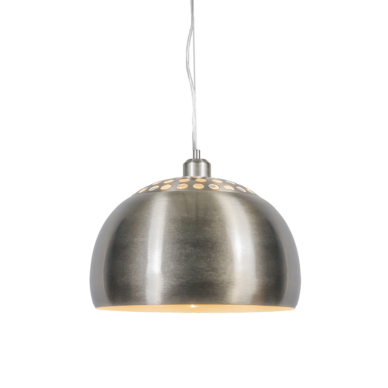 Moderne ronde hanglamp staal - Globe