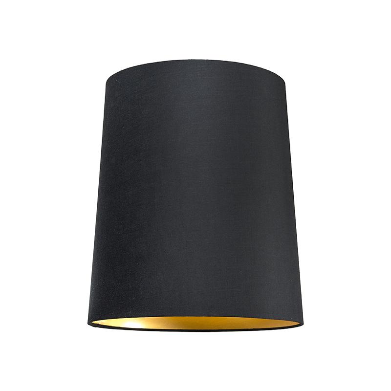 Kap 35cm rond SU E27 zwart-goud