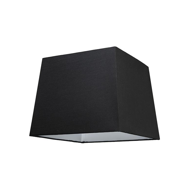 Kap 30cm vierkant SU E27 zwart