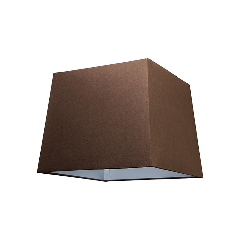 Kap 30cm vierkant SU E27 bruin
