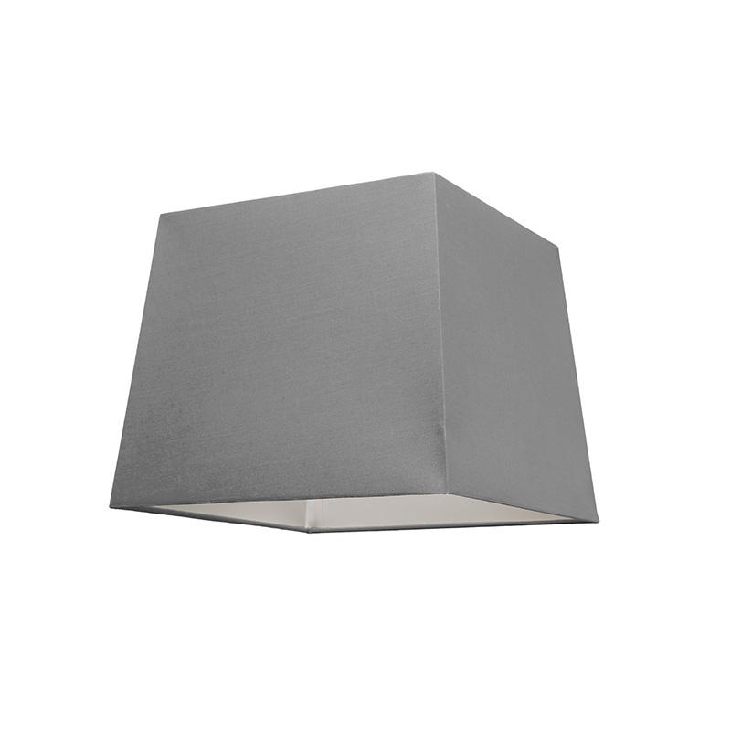 Kap 30cm vierkant SU E27 grijs