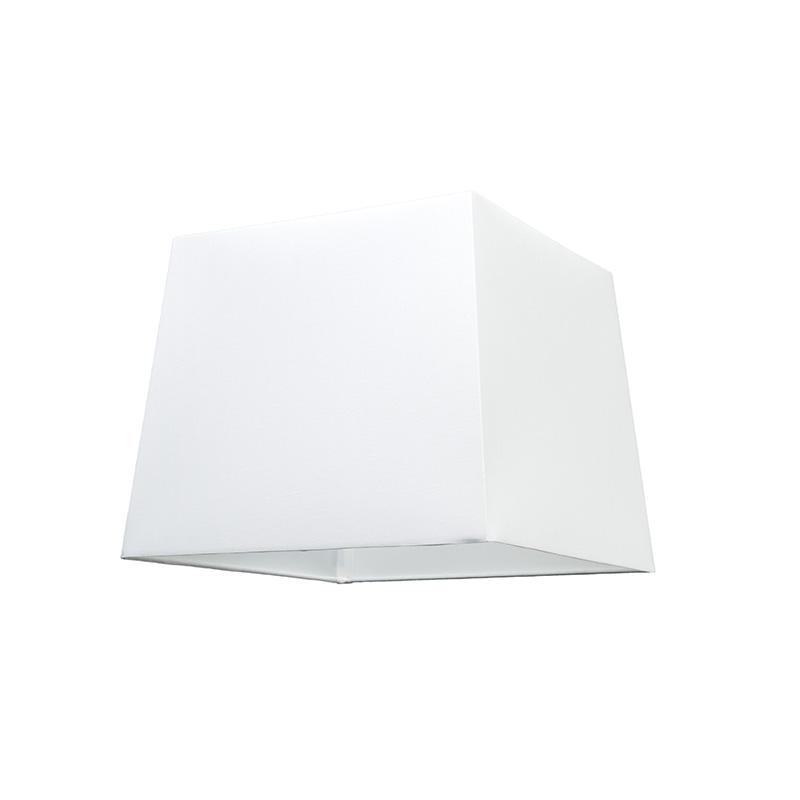 Kap 30cm vierkant SU E27 wit