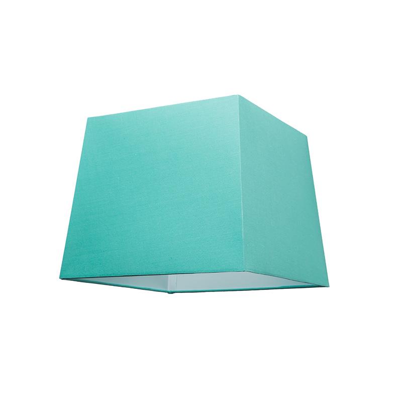 Kap 30cm vierkant SU E27 turquoise