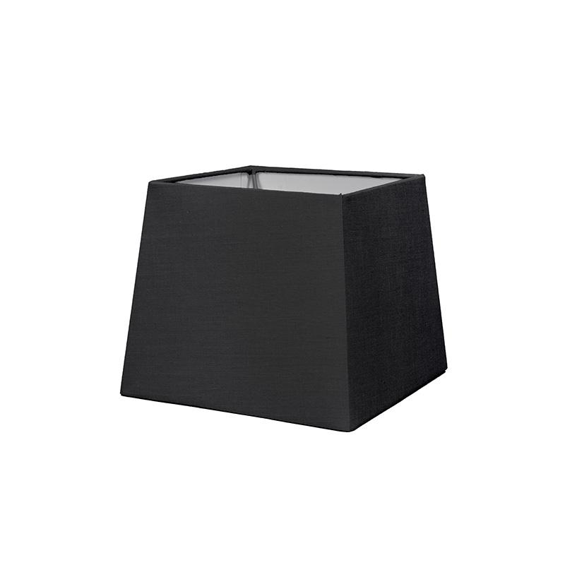 Kap 18cm vierkant SD E27 zwart