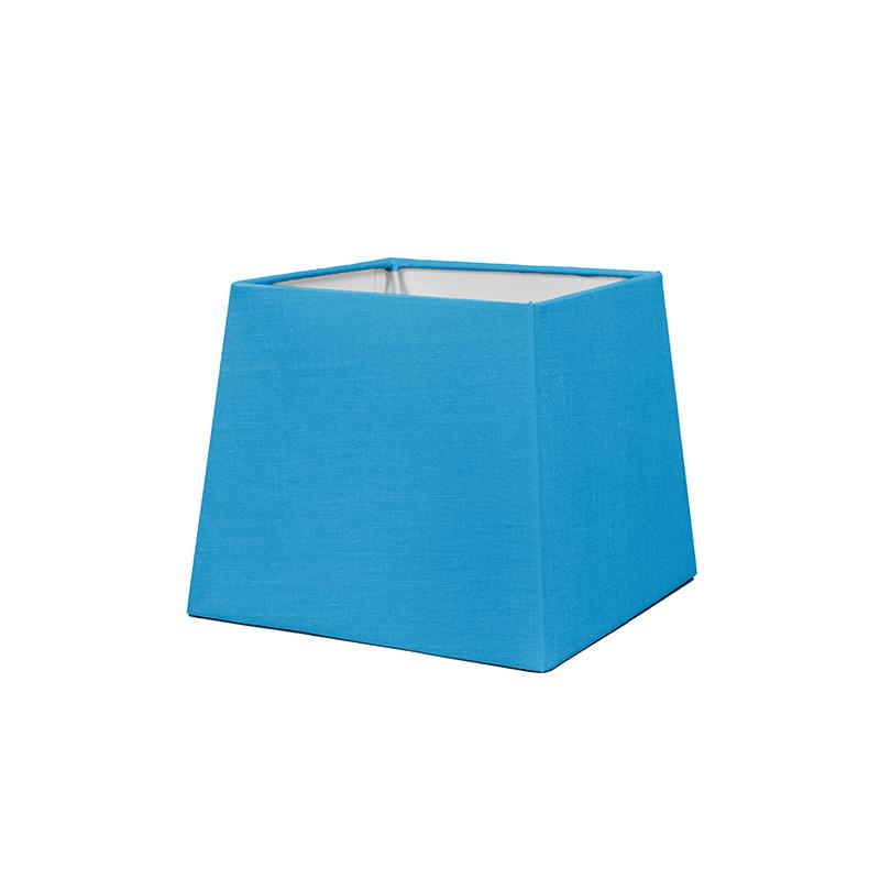 Kap 18cm vierkant SD E27 lichtblauw