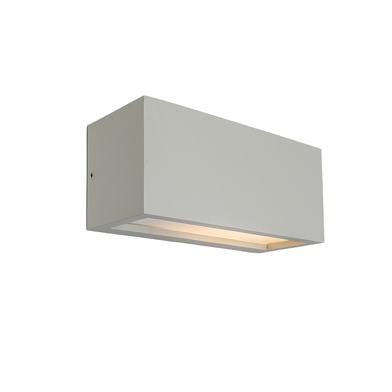 Wandlamp Angle 1 lichtgrijs