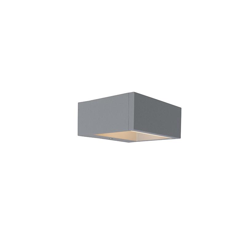 Buitenlamp Frame wand LED zilvergrijs