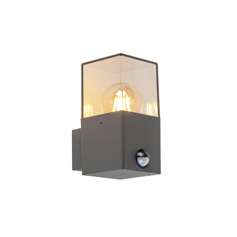 Buitenwandlamp donkergrijs met bewegingsmelder IP44 - Denmark