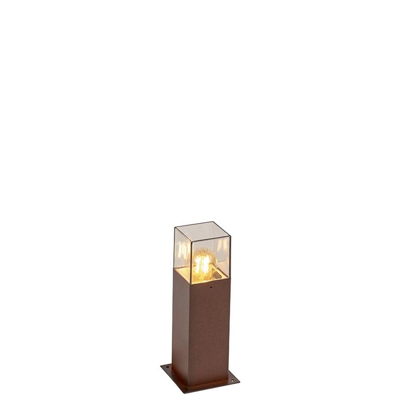 Przemysłowa zewnętrzna lampa stojąca 30 cm rdzawobrązowa IP44 - Denmark