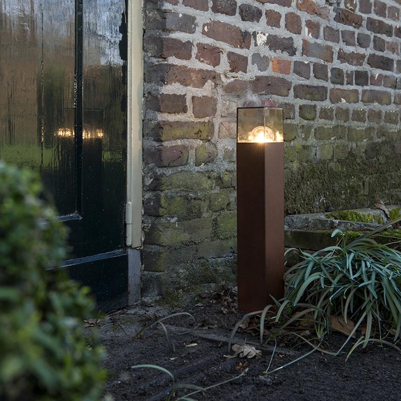 Industriële staande buitenlamp 50 cm roestbruin IP44 - Denmark