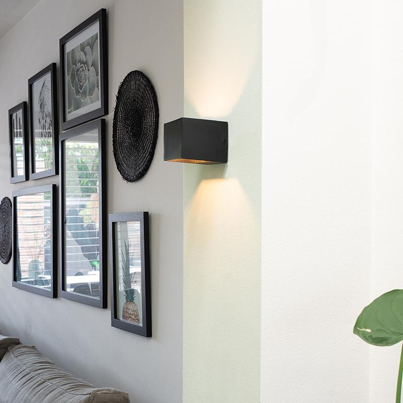 Moderne wandlamp zwart - Transfer
