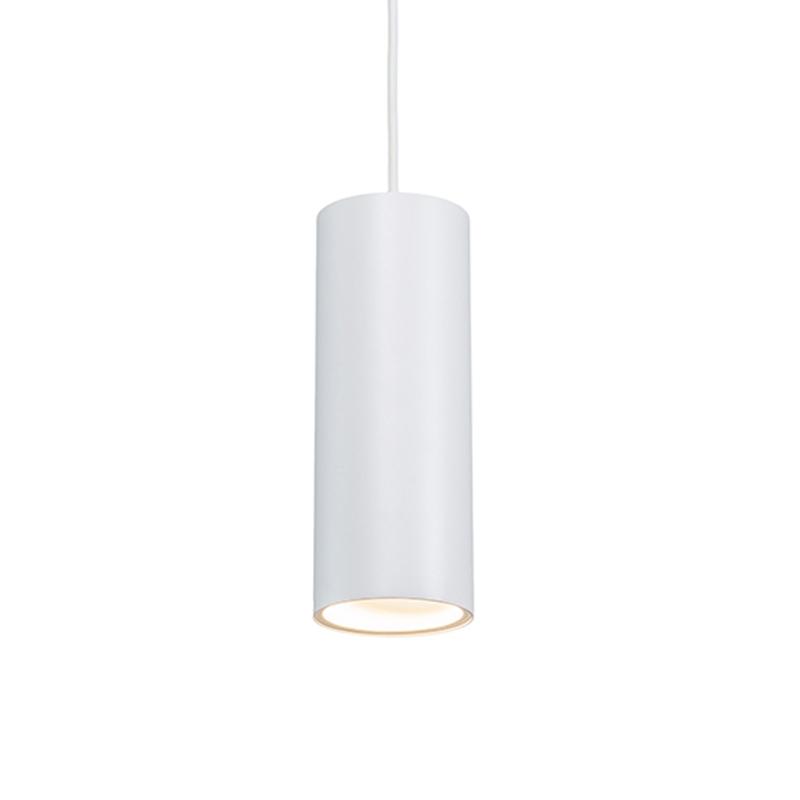 Designerska lampa wisząca biała - Tubo